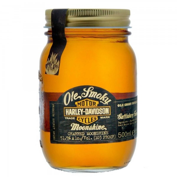 Ole Smoky Harley Davidson Charred Moonshine Whisky 50cl