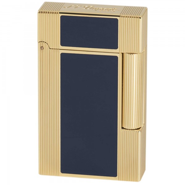 S.T. Dupont Ligne 2 Windsor Blue Natural Lacquer & Yellow Gold (016381)