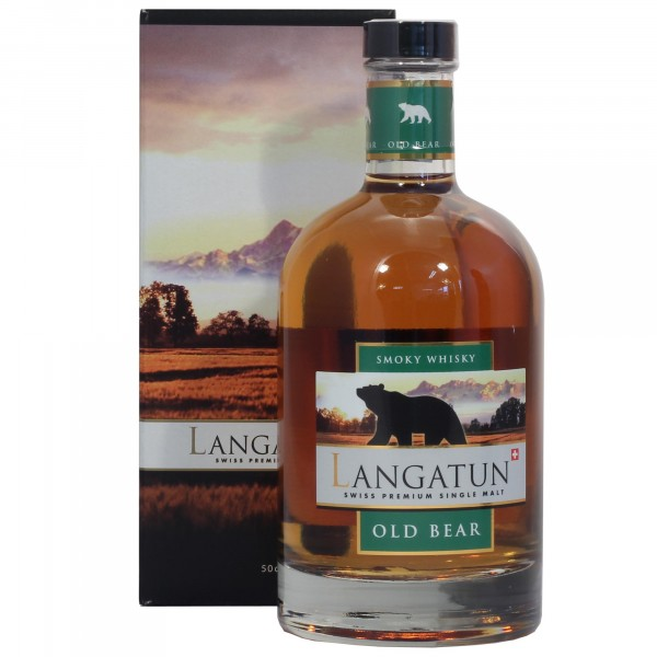 Langatun Old Bear Smoky Whisky 50cl